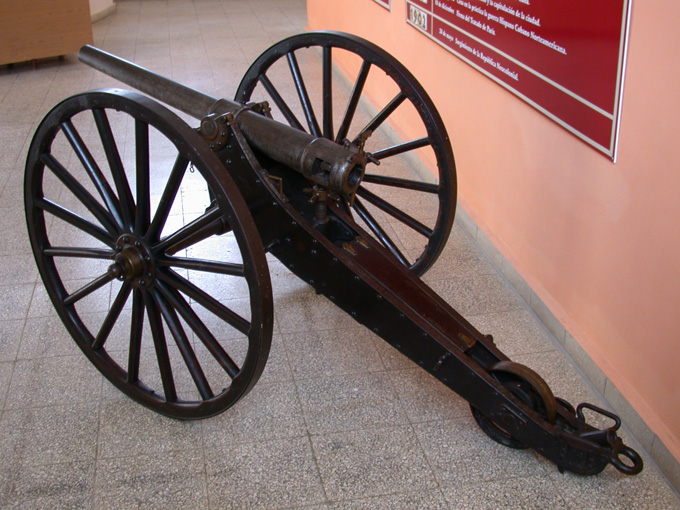 1895 dated 1.65 inch Hotchkiss at Spanish, Cuban, American War Museum