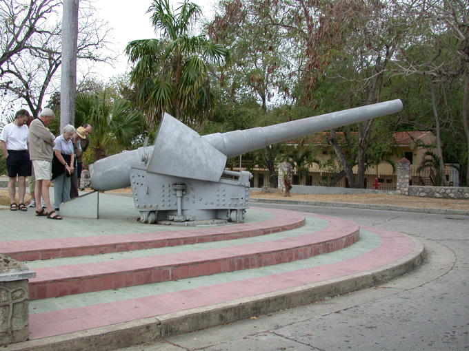 Cannon from Reina Mercedes at San Juan Heights