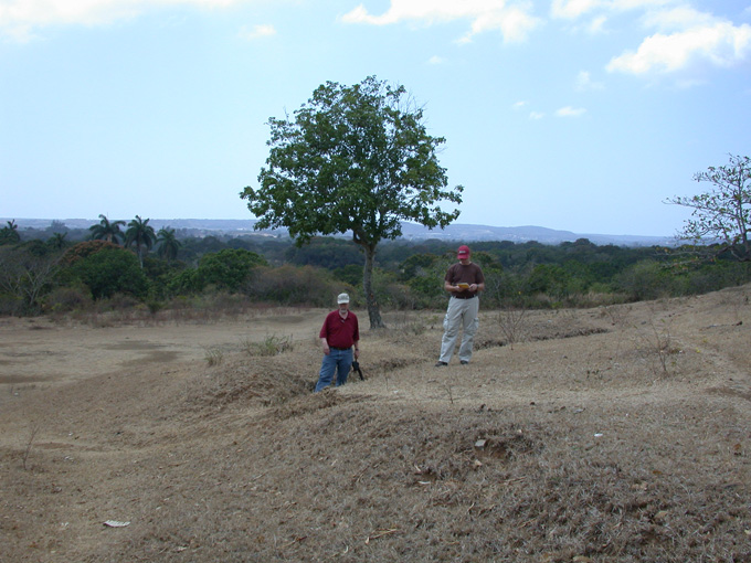 Possible Spanish trenches at El Viso