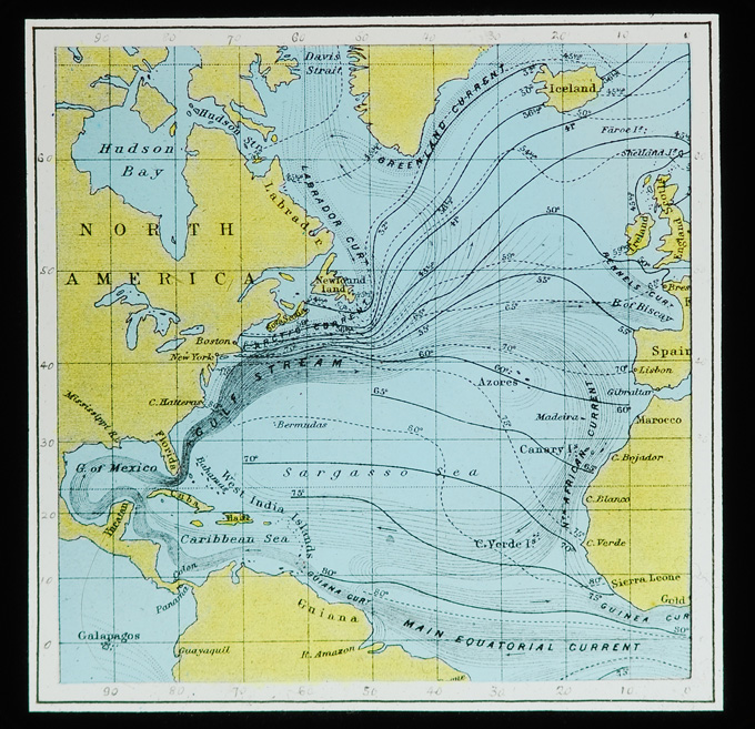 Map -- Currents of North Atlantic
